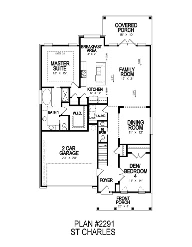 St Charles First Floor Plan